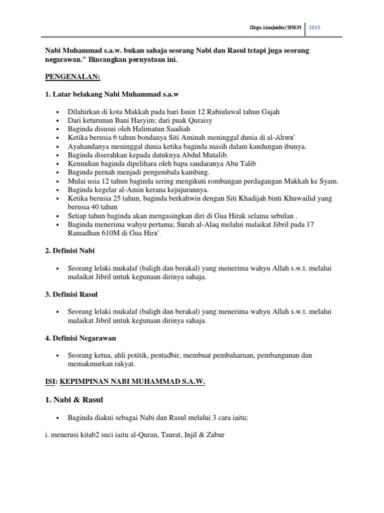 Latar Belakang Nabi Muhammad : latar, belakang, muhammad, Sejarah, Islam-, Muhammad, S.a.w