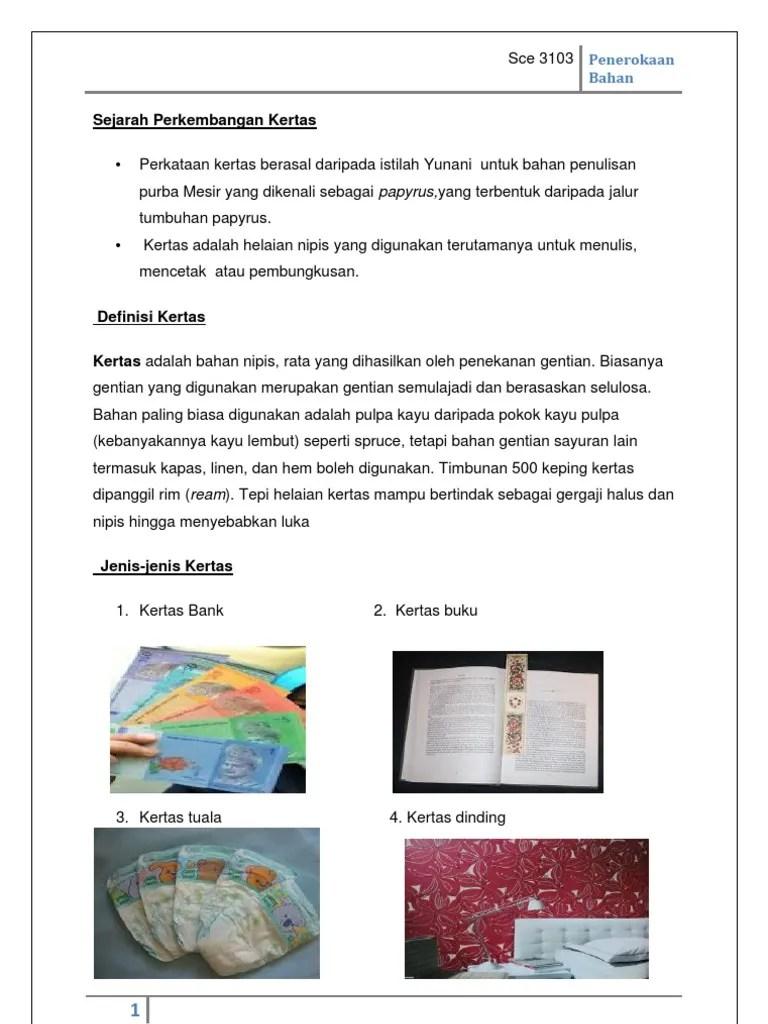 Jenis Jenis Kertas Dan Kegunaannya : jenis, kertas, kegunaannya, Kertas