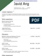 Resume Sample Singapore 2019