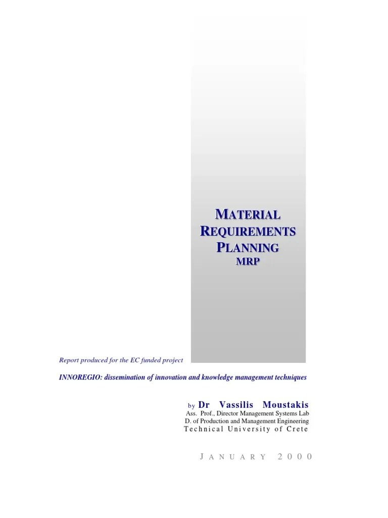 hight resolution of mrp manufacturing resource planning pdf production and manufacturing business