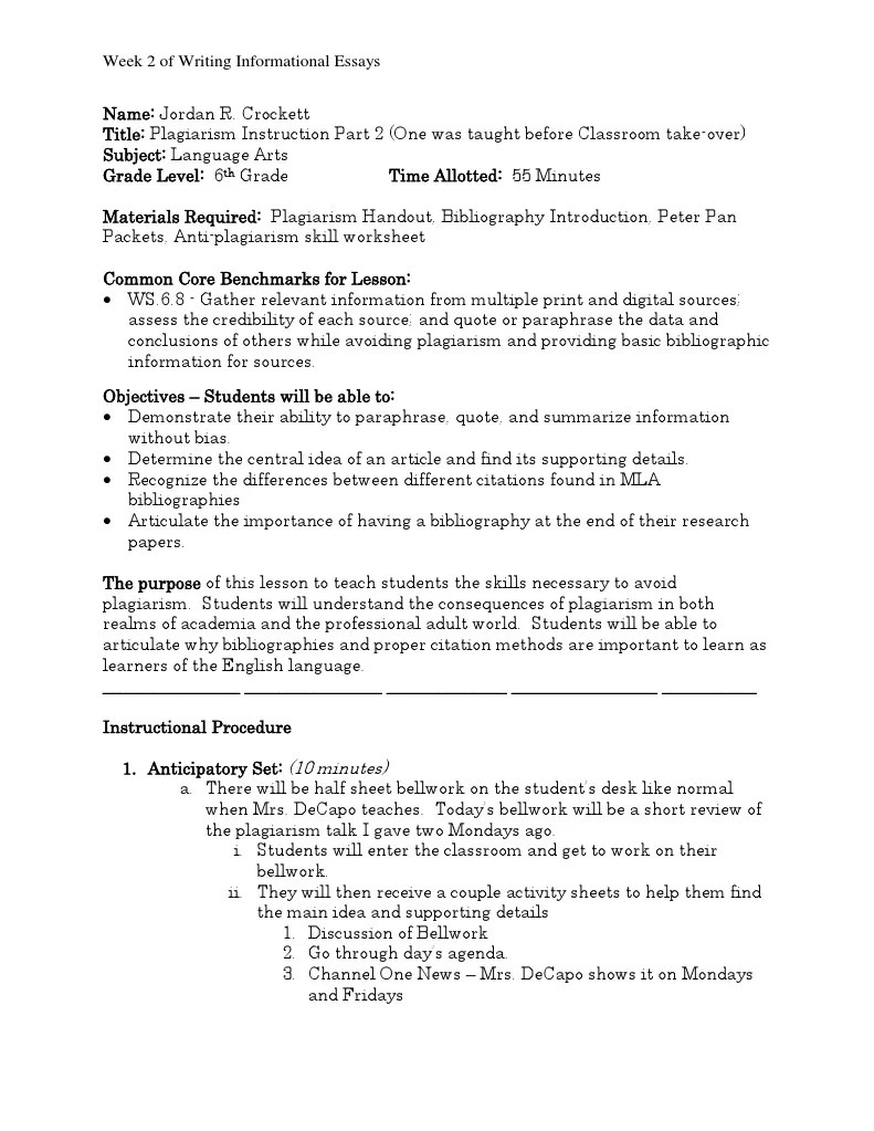 hight resolution of english lesson plans for weebly   Citation   Bibliography