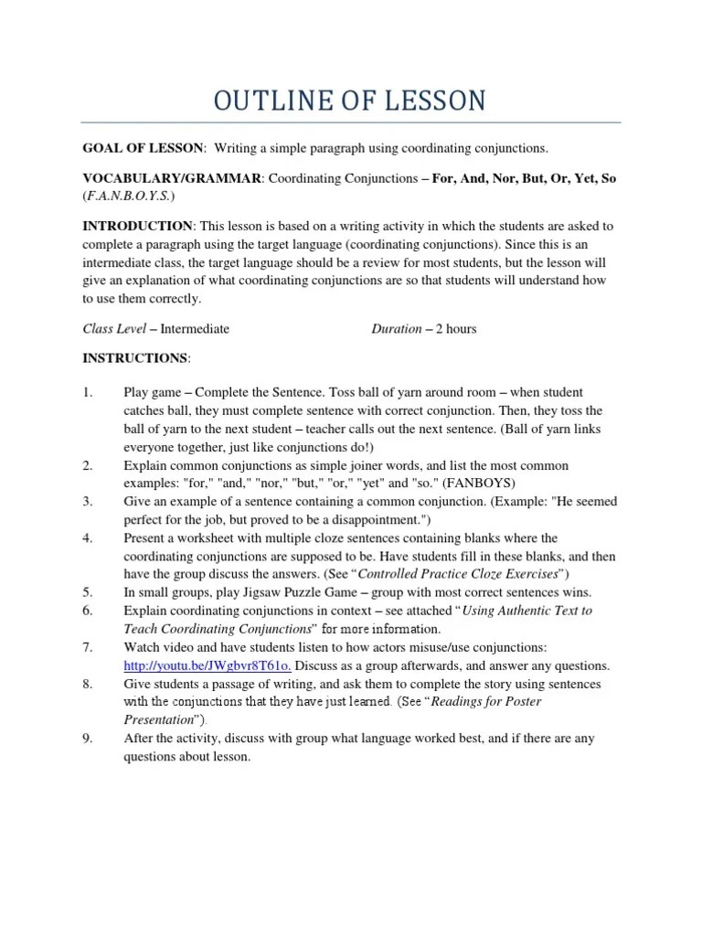 medium resolution of Coordinating Conjunctions   Question   Sentence (Linguistics)