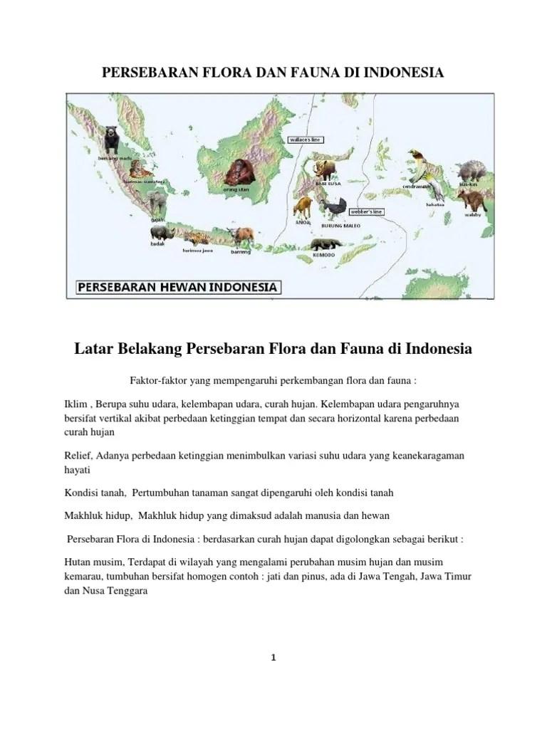 Persebaran Hutan Musim Di Indonesia : persebaran, hutan, musim, indonesia, Persebaran, Flora, Fauna, Indonesia