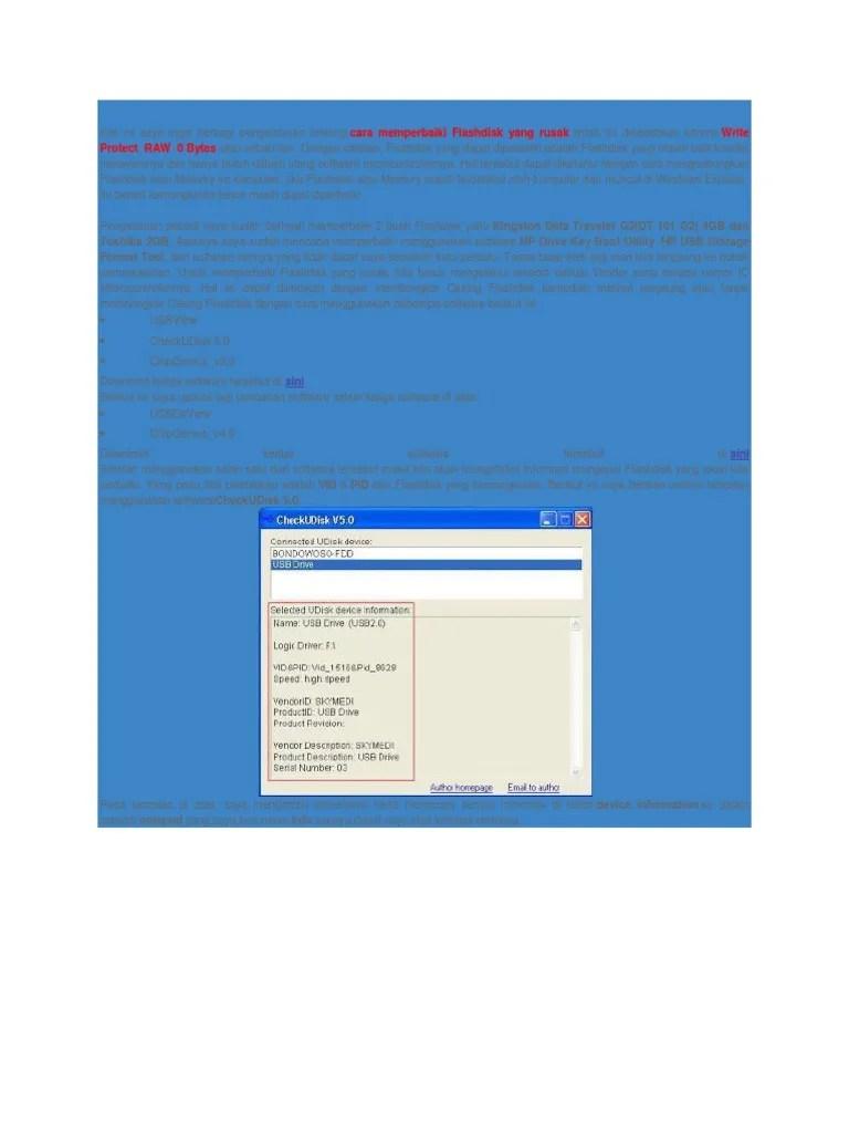 Cara Memperbaiki Flashdisk Yang Filenya Corrupt : memperbaiki, flashdisk, filenya, corrupt, Memperbaiki, Flashdisk, Rusak