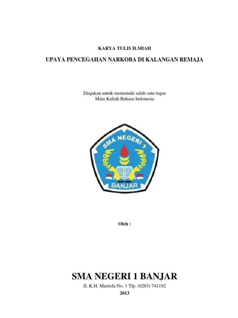 Karya Ilmiah Narkoba : karya, ilmiah, narkoba, Karya, Tulis, Ilmiah, Narkoba