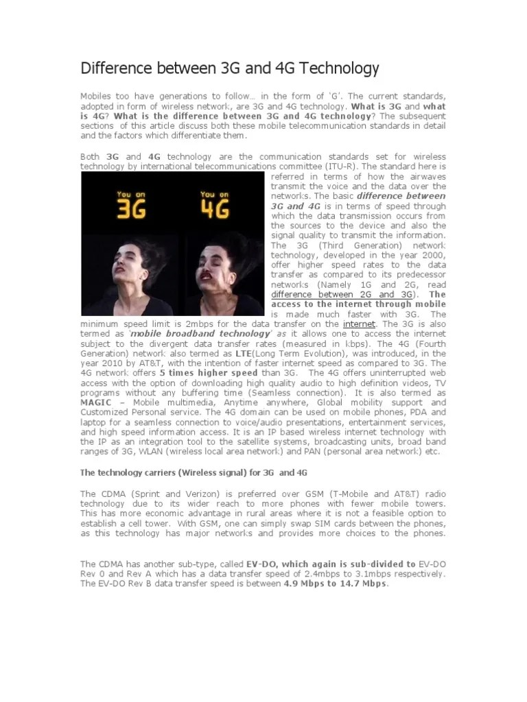 Difference between 3G and 4G Technology.pdf   4 G   3 G
