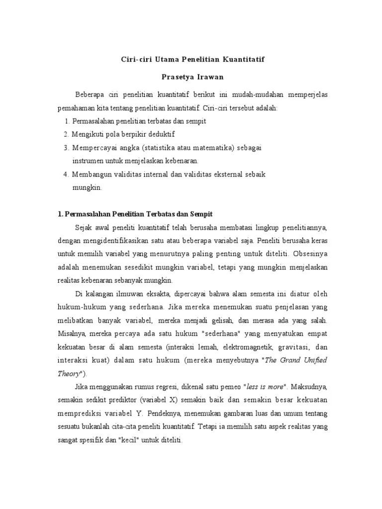 Ciri-ciri Penelitian Kualitatif : ciri-ciri, penelitian, kualitatif, 3.Ciri, Penelitian, Kuantitatif