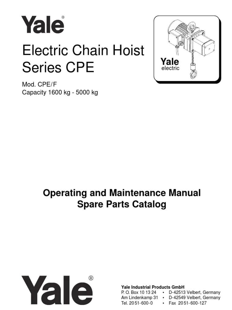 medium resolution of yale electric chain hoist wiring diagram