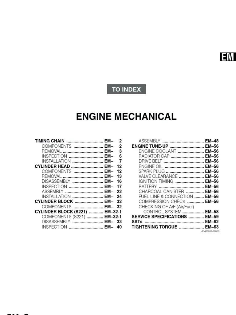 medium resolution of daihatsu k3 vet engine mechanical manual book toler ncia engenharia cilindro motor