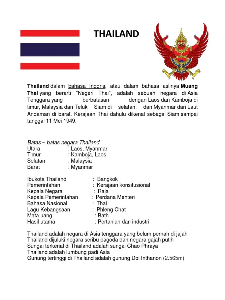 Negara Lumbung Padi Asia Tenggara : negara, lumbung, tenggara, Thailand, Rangkuman