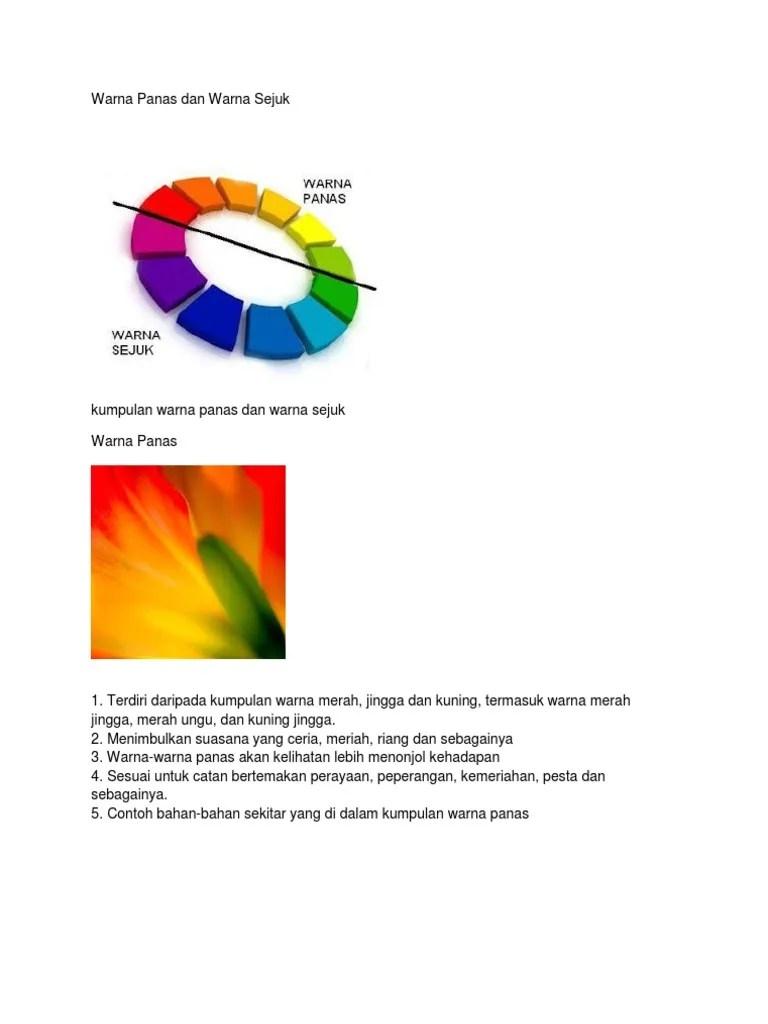 Contoh Warna Panas : contoh, warna, panas, Warna, Panas, Sejuk
