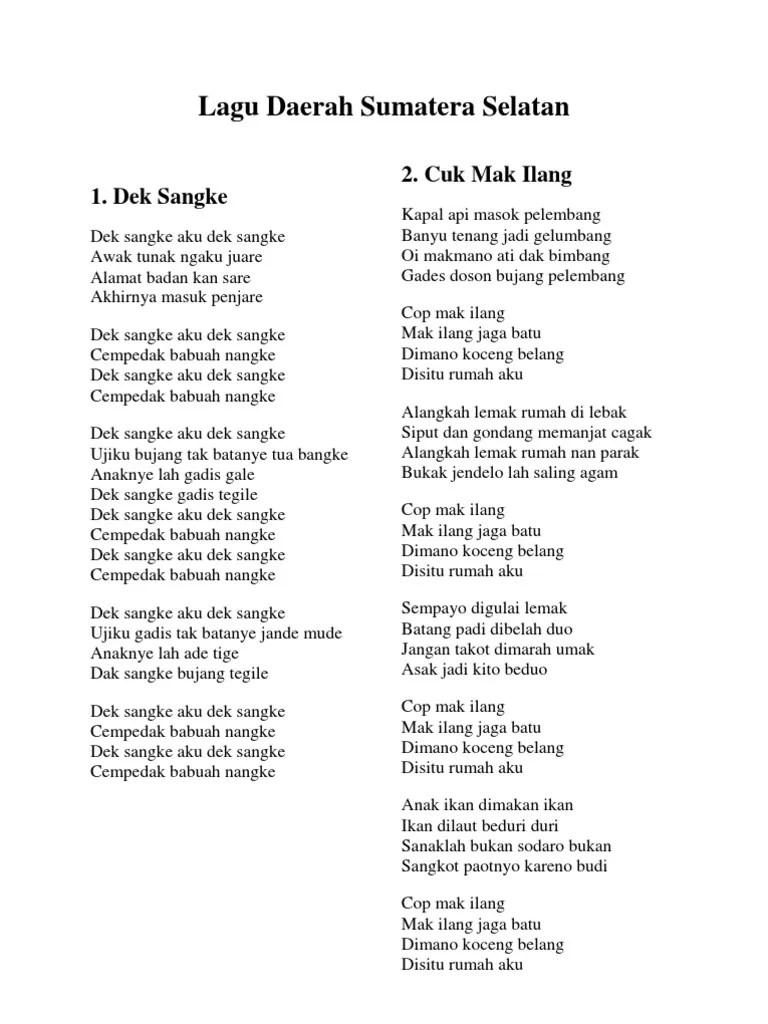 Lagu Daerah Lahat Sumatera Selatan : daerah, lahat, sumatera, selatan, Sumatera, Selatan, Rasanya