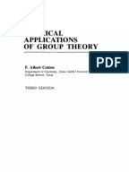 chemical applications of group theory solution