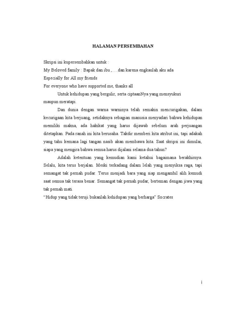 Halaman Persembahan Skripsi Pdf : halaman, persembahan, skripsi, Contoh, Materi, Pelajaran, Halaman, Persembahan, Skripsi
