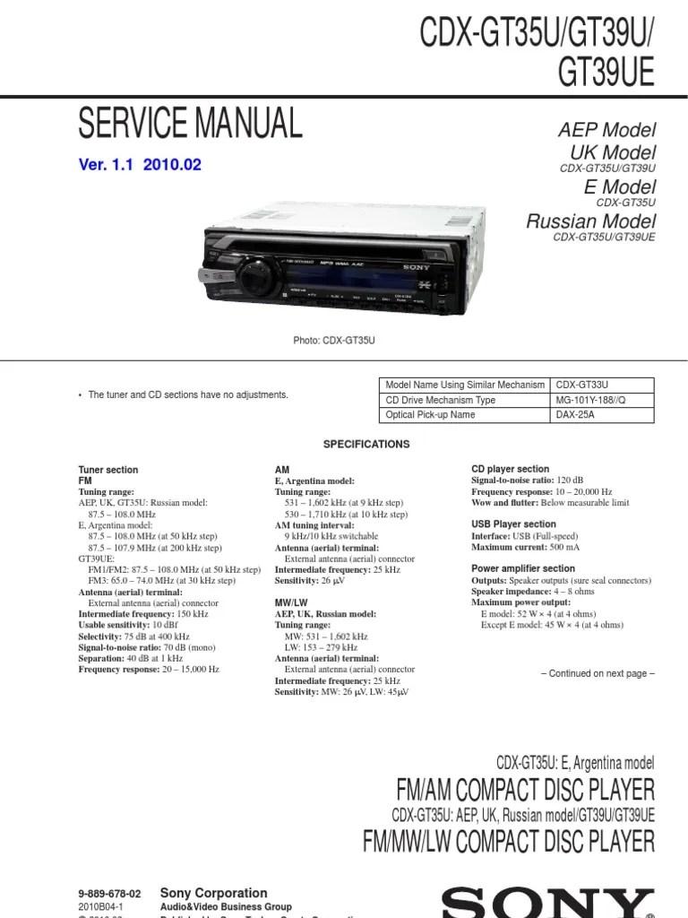 sony cdx gt200 wiring diagram [ 768 x 1024 Pixel ]
