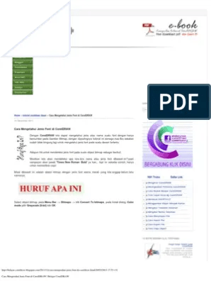 Cara Mengetahui Jenis Font Di Coreldraw : mengetahui, jenis, coreldraw, Mengetahui, Jenis, CorelDRAW, Belajar