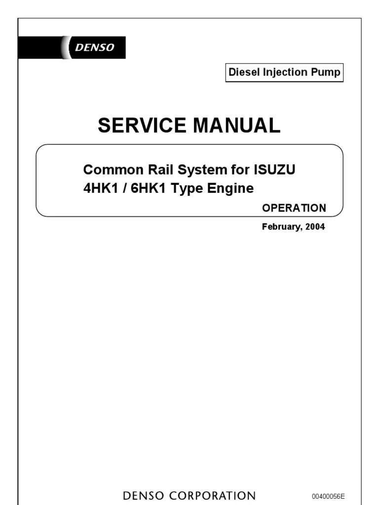 medium resolution of service manual common rail system isuzu 4hk1 6hk1 fuel injection throttle
