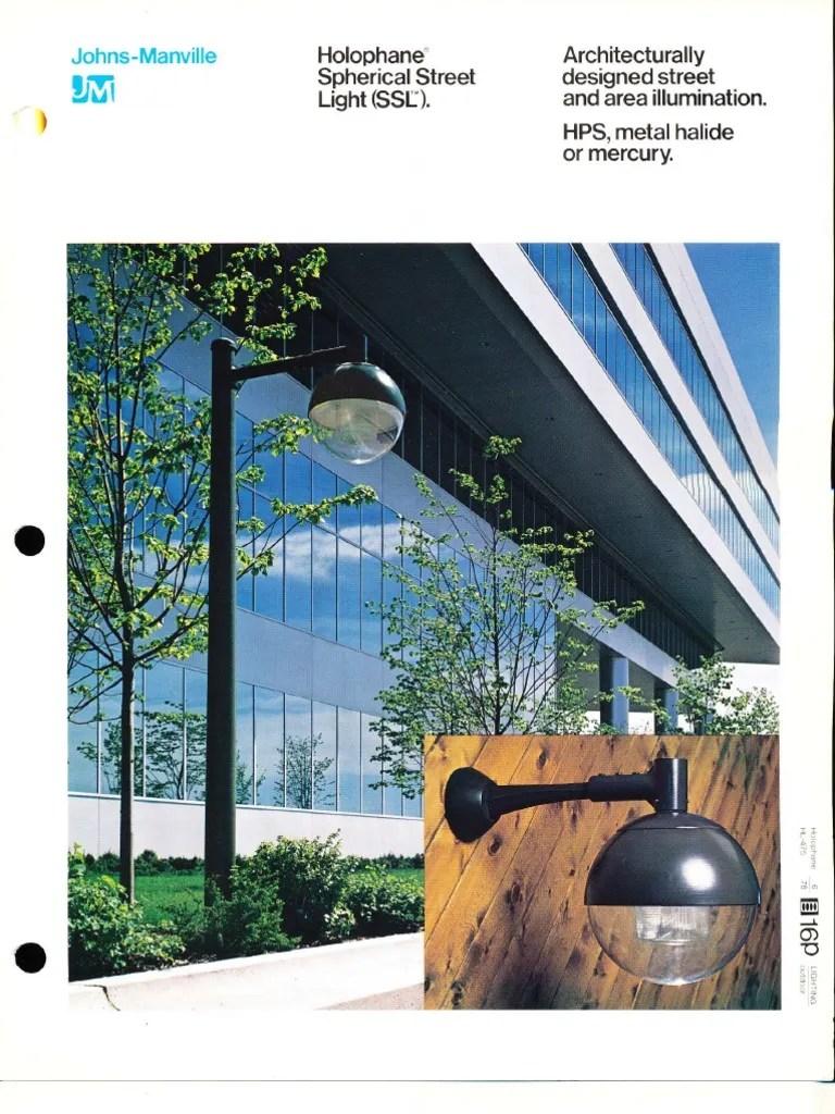 holophane spherical street light ssl series brochure 6 78 capacitor insulator electricity  [ 768 x 1024 Pixel ]