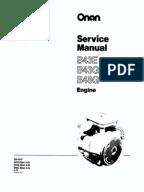 Onan P216, P218, P220, P224 Service Manual