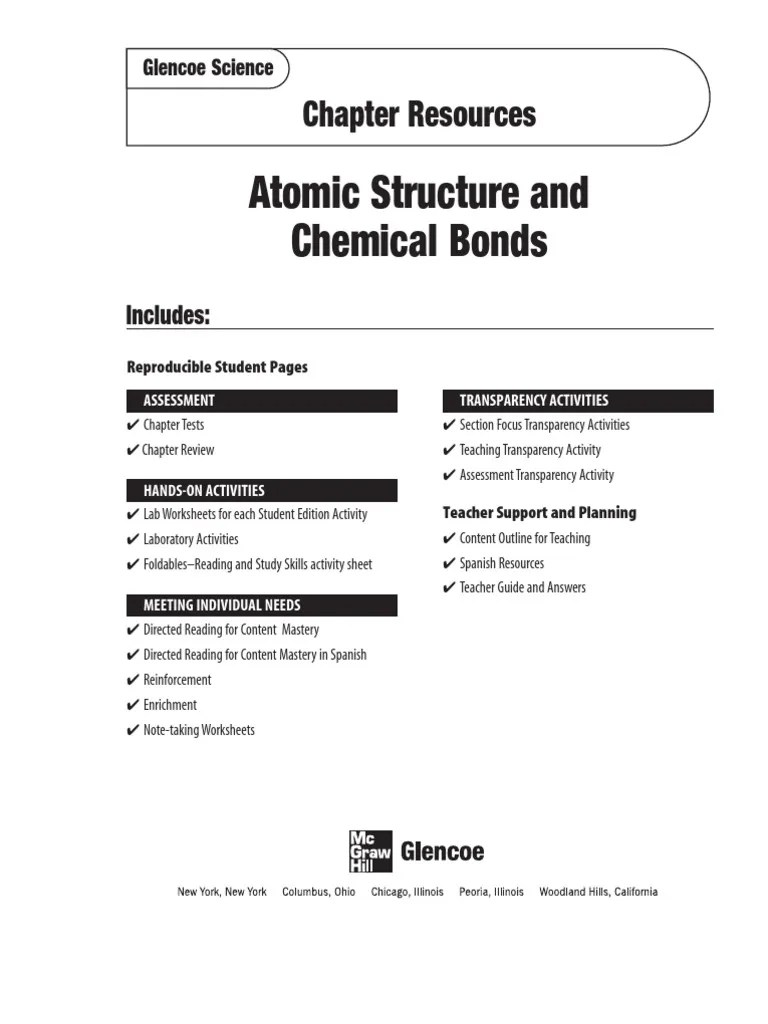 small resolution of Chapter 6 Chemical Bonding Worksheet Answers - Worksheet List