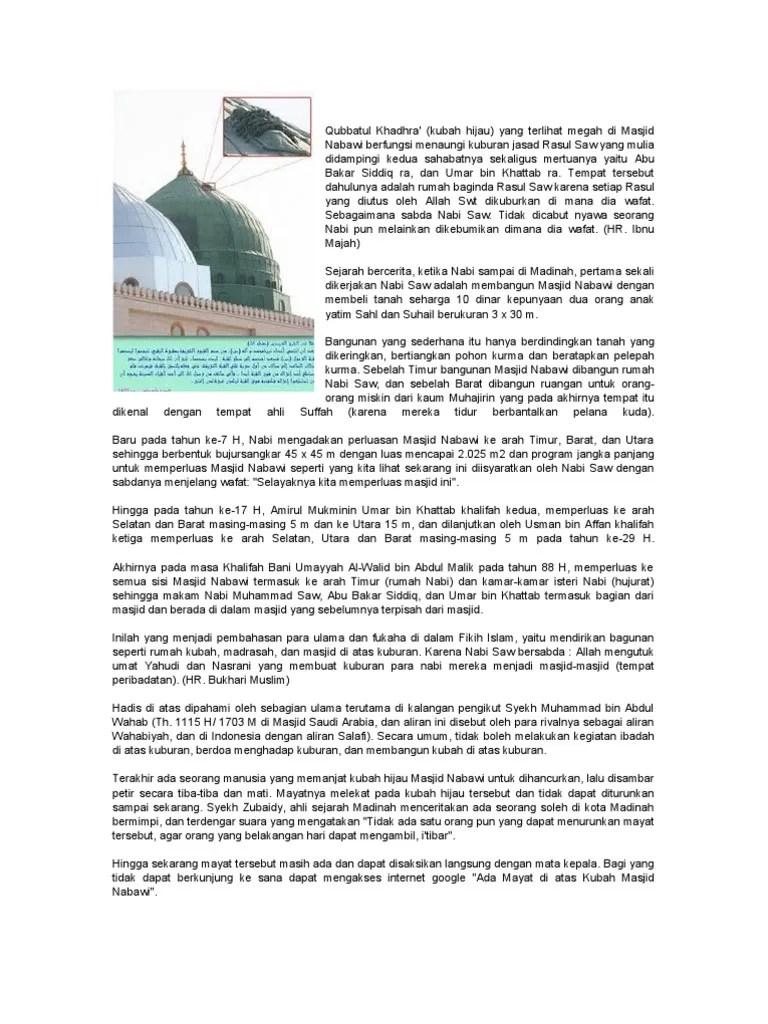 Mayat Diatas Kubah Masjid Nabawi : mayat, diatas, kubah, masjid, nabawi, Mayat, Kubah, Hijau, Nabawi