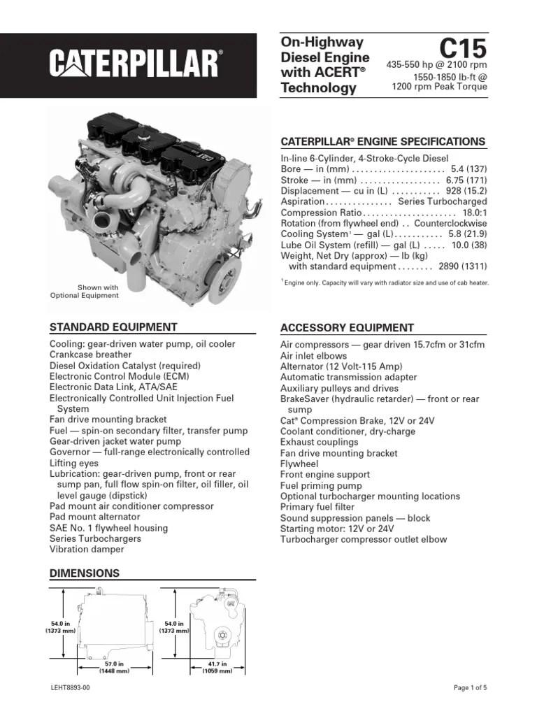 hight resolution of caterpillar c15 engine diagram left side