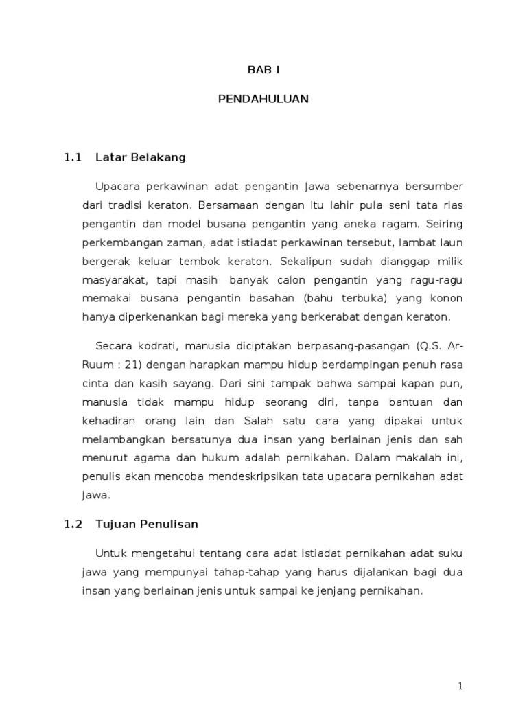 Upacara Adat Jawa Dalam Bahasa Jawa : upacara, dalam, bahasa, Makalah, Pernikahan