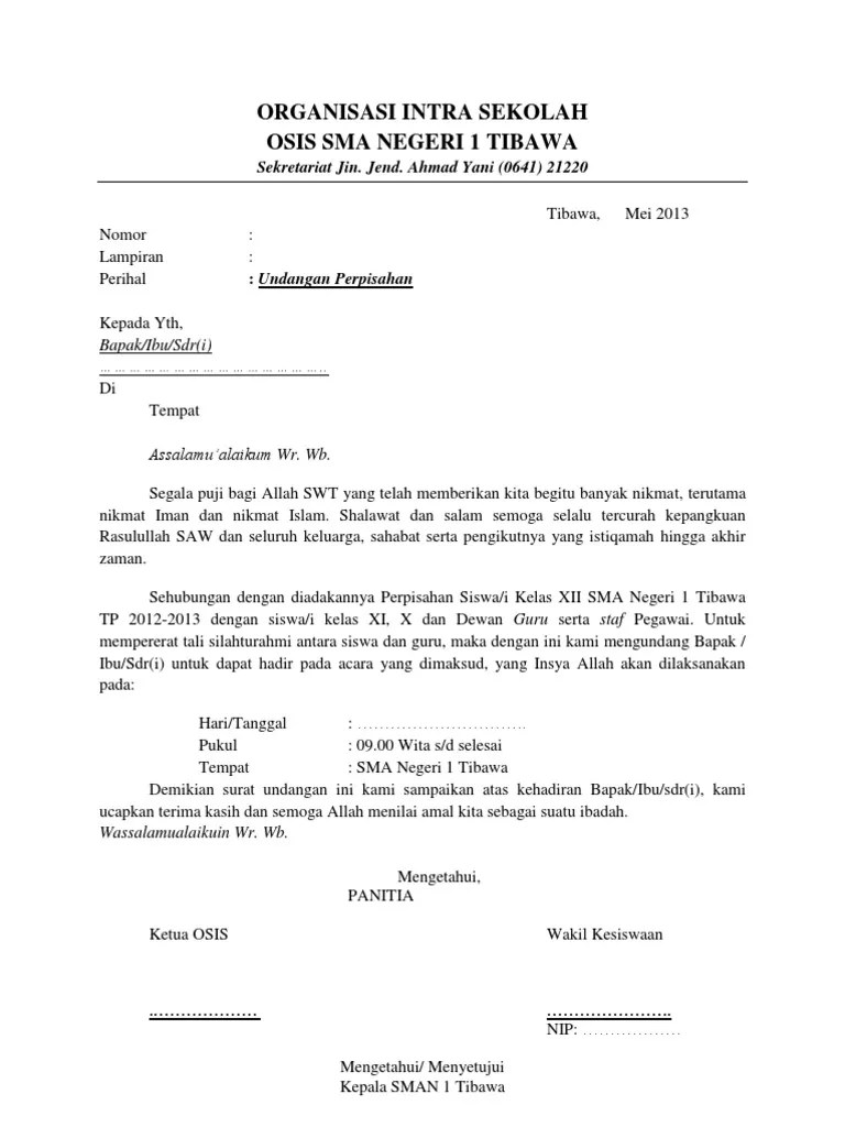 Contoh Undangan Perpisahan : contoh, undangan, perpisahan, Contoh, Undangan, Perpisahan
