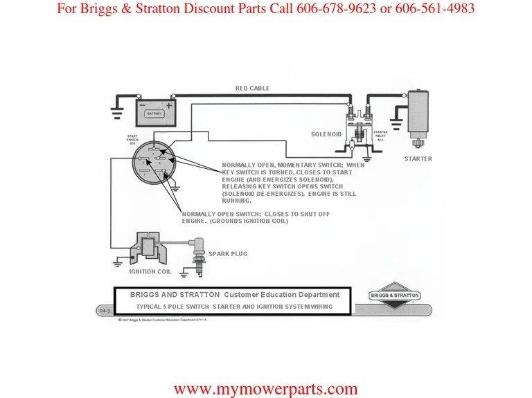 Briggs And Stratton Electric Starter Wiring Diagram