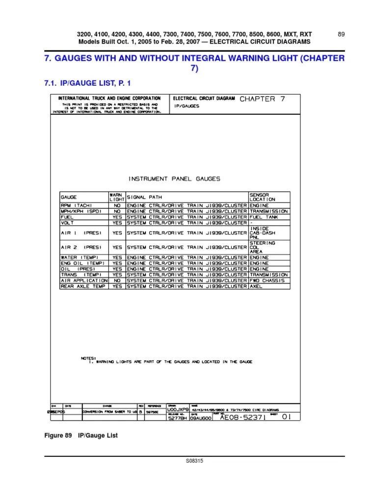 medium resolution of 2006 international 4300 truck diagram
