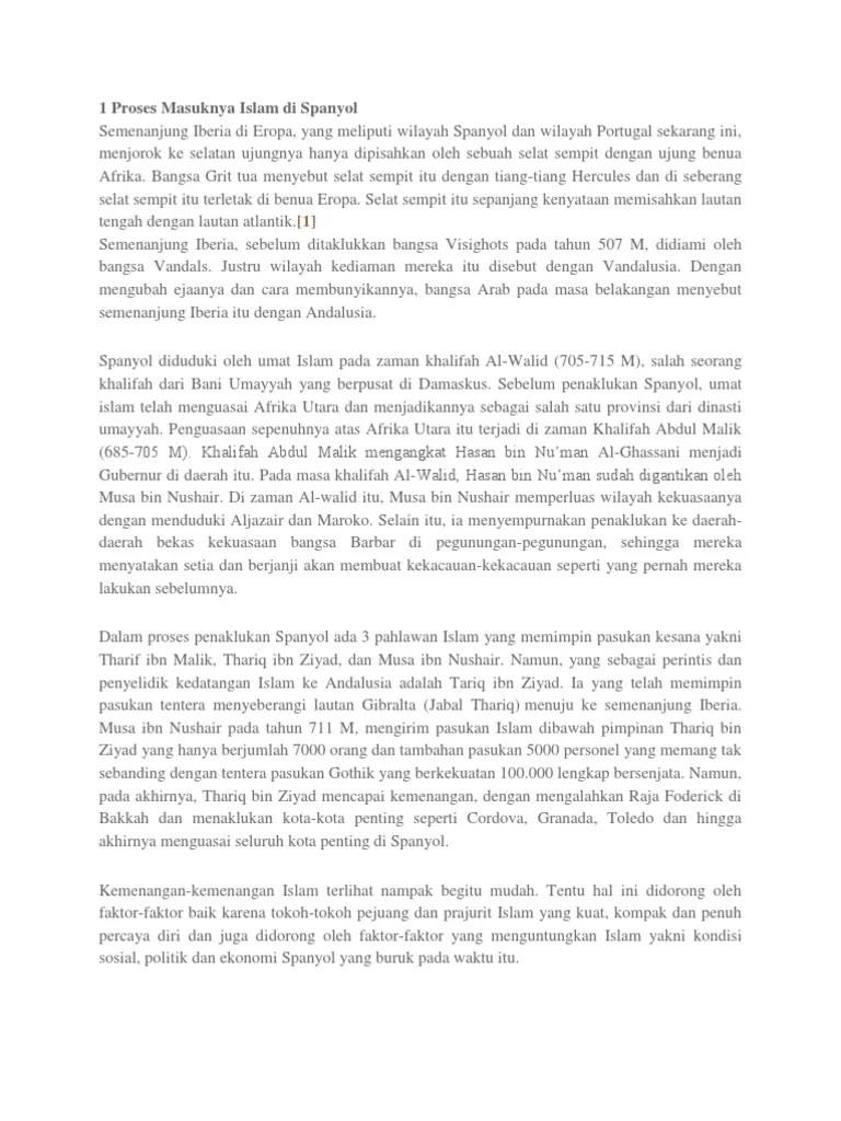 Proses Masuknya Islam Ke Andalusia : proses, masuknya, islam, andalusia, Proses, Masuknya, Islam, Spanyol