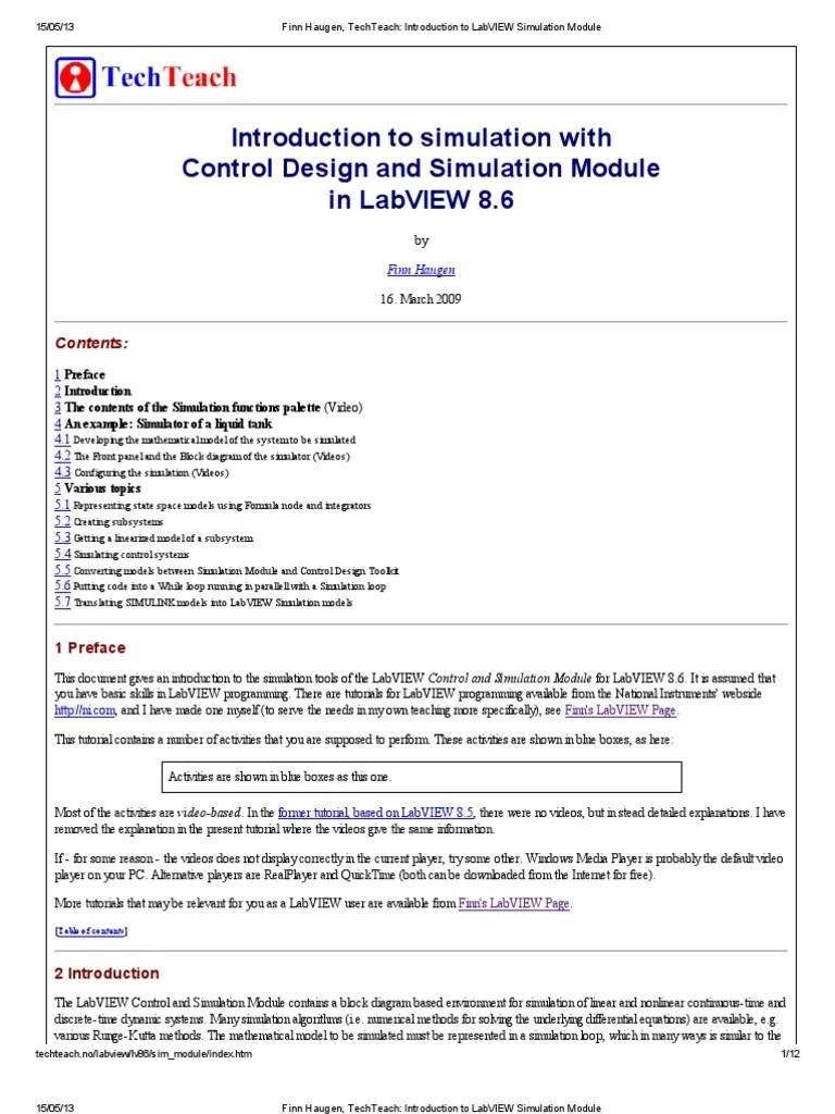 medium resolution of finn haugen techteach introduction to labview simulation module kalman filter simulation