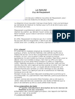 La Parure Fiche De Lecture Pdf : parure, fiche, lecture, Parure, Maupassant, Inégalité, Sociale
