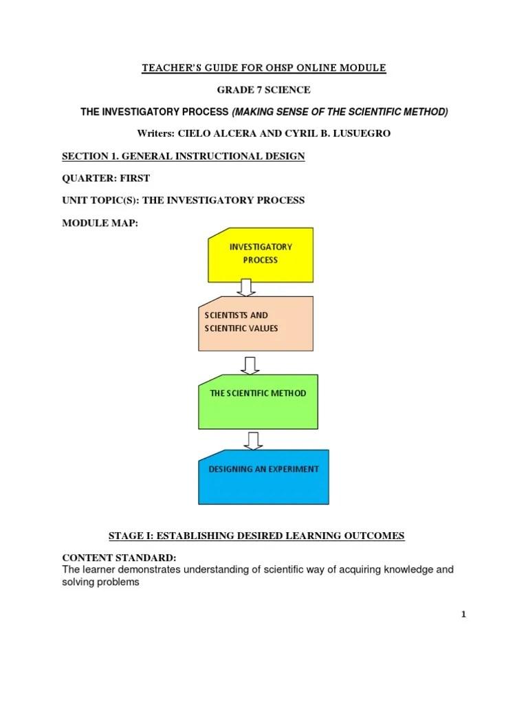 ScienceLesson1.pdf   Scientific Method   Experiment [ 1024 x 768 Pixel ]