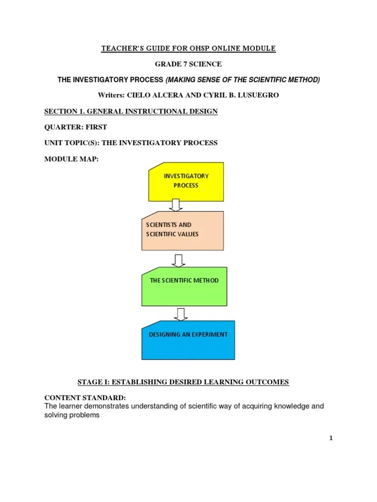 small resolution of ScienceLesson1.pdf   Scientific Method   Experiment
