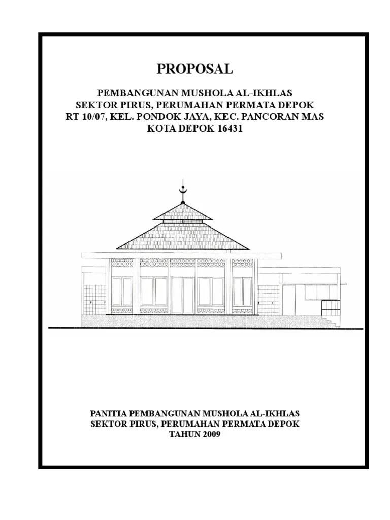 Proposal Renovasi Mushola : proposal, renovasi, mushola, Proposal, Mushola, Ikhlas, Pirus, Permata, Depok