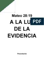 Plan de Trabajo 2012 de la Iglesia Cristiana
