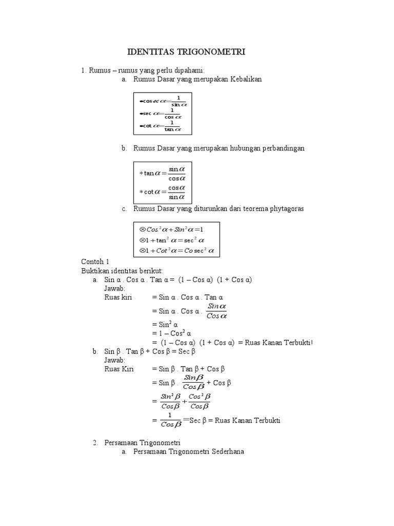Rumus Persamaan Trigonometri : rumus, persamaan, trigonometri, Identitas-trigonometri.doc
