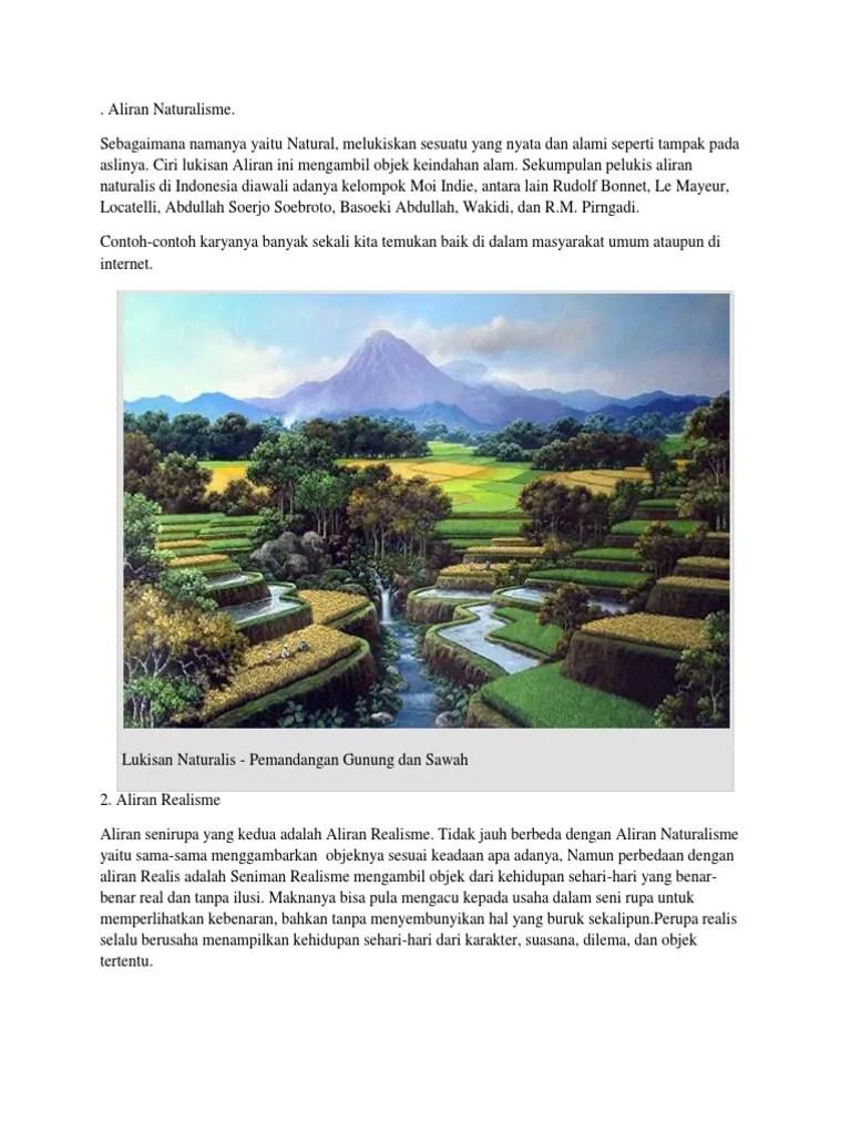 21 Aliran Seni Lukis - Ciri, Jenis, Tokoh dan Contoh Gambar