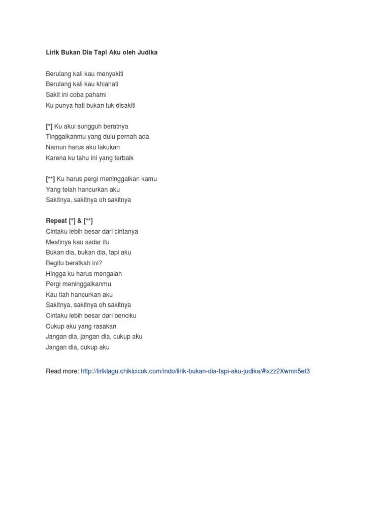 Download Lagu Bukan Dia Tapi Aku Judika : download, bukan, judika, Lirik, Bukan, Judika