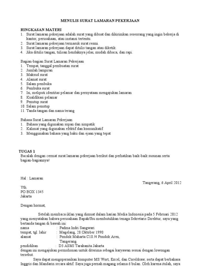 Penulisan Salam Pembuka Dalam Surat Lamaran Pekerjaan Yang Benar Adalah : penulisan, salam, pembuka, dalam, surat, lamaran, pekerjaan, benar, adalah, Menulis, Surat, Lamaran, Pekerjaan