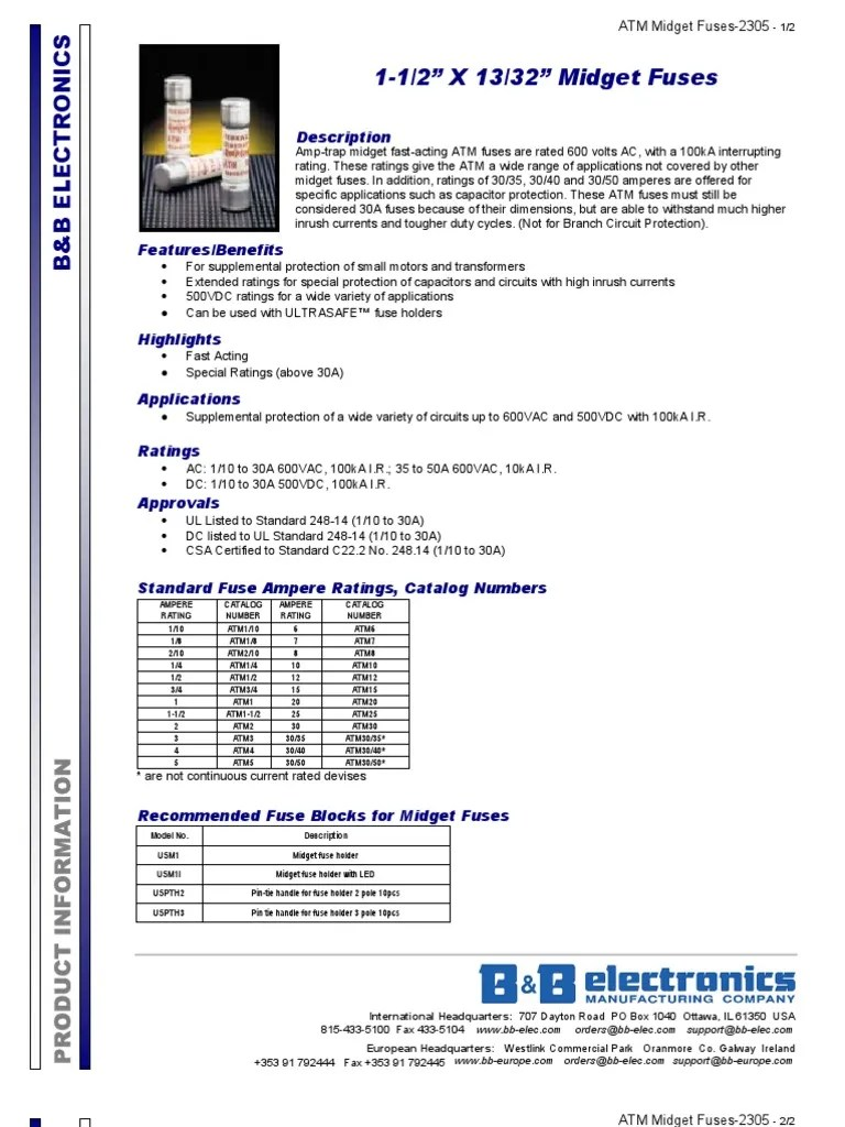 atm midget fuses 2305ds 1 fuse electrical automated teller machine [ 768 x 1024 Pixel ]