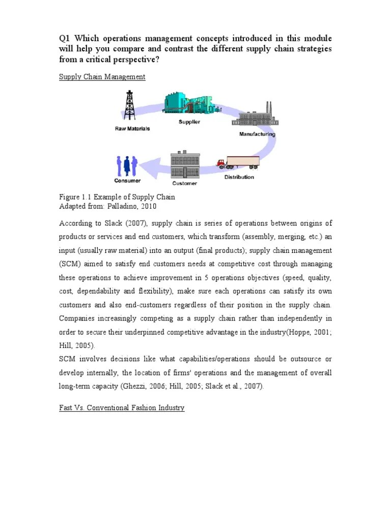 small resolution of a study on operation management of zara benetton and h m supply chain management supply chain
