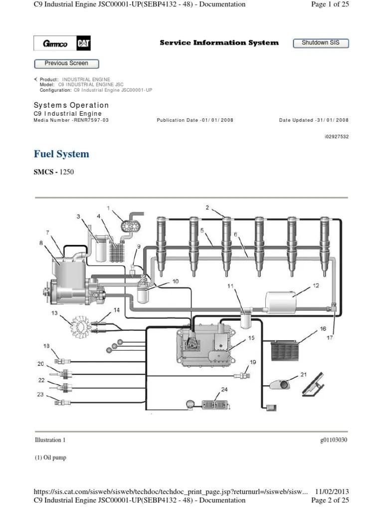 medium resolution of heui fuel system c9 engine fuel injection actuator cat engine fuel line diagram