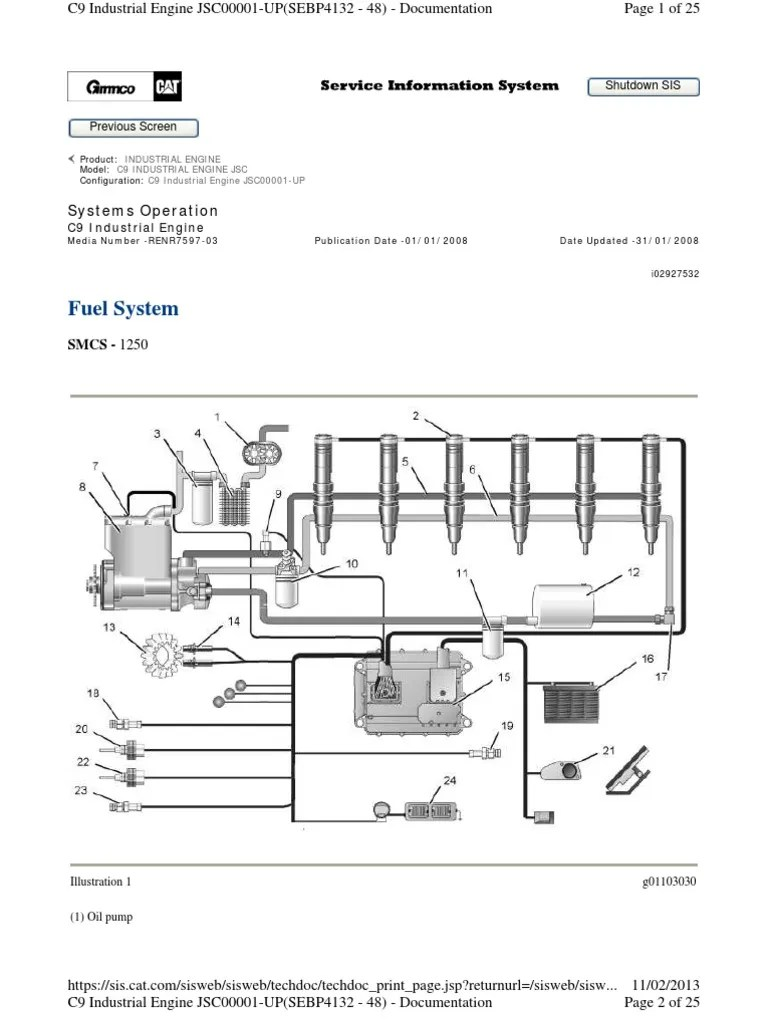 small resolution of heui fuel system c9 engine fuel injection actuator cat engine fuel line diagram