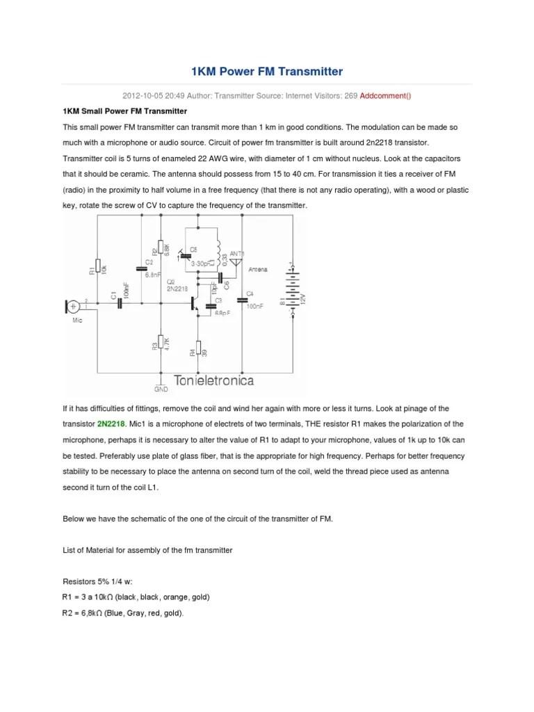 fm transmitter circuit diagram schematic [ 768 x 1024 Pixel ]