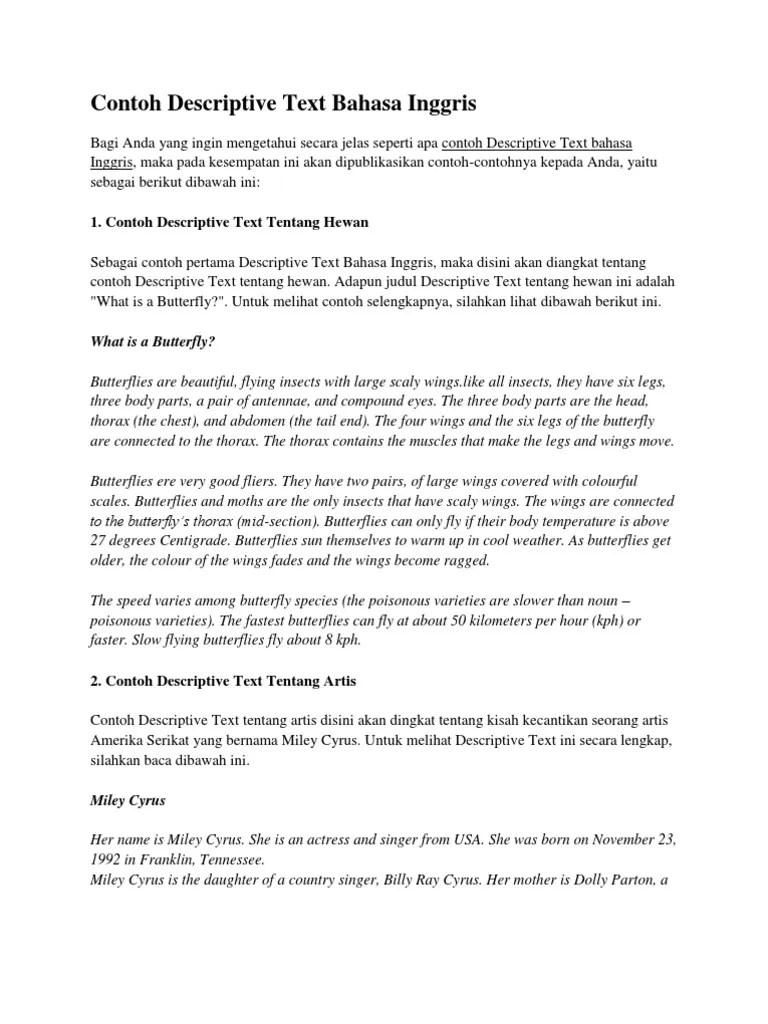 Contoh Teks Descriptive Bahasa Inggris : contoh, descriptive, bahasa, inggris, Bahasa, Inggris, Kwmonkey