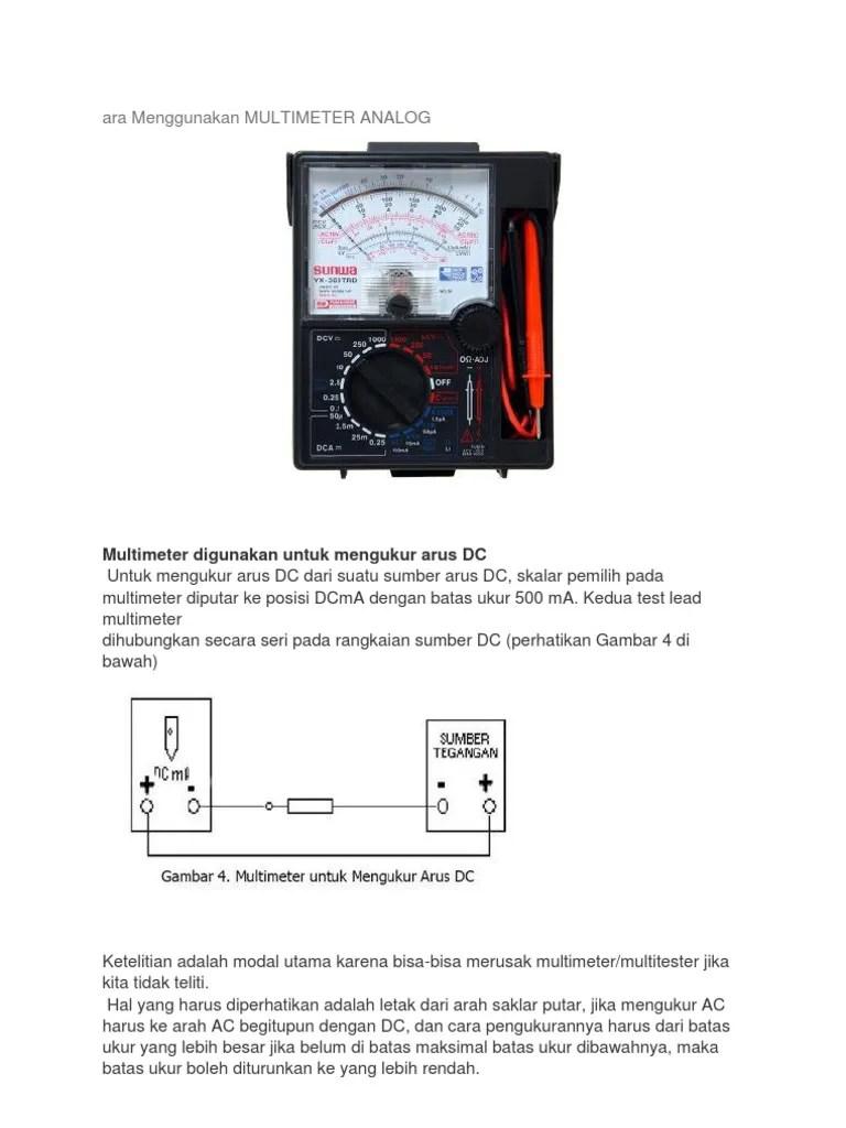 Cara Menggunakan Multimeter Analog : menggunakan, multimeter, analog, Menggunakan, Multimeter, Analog