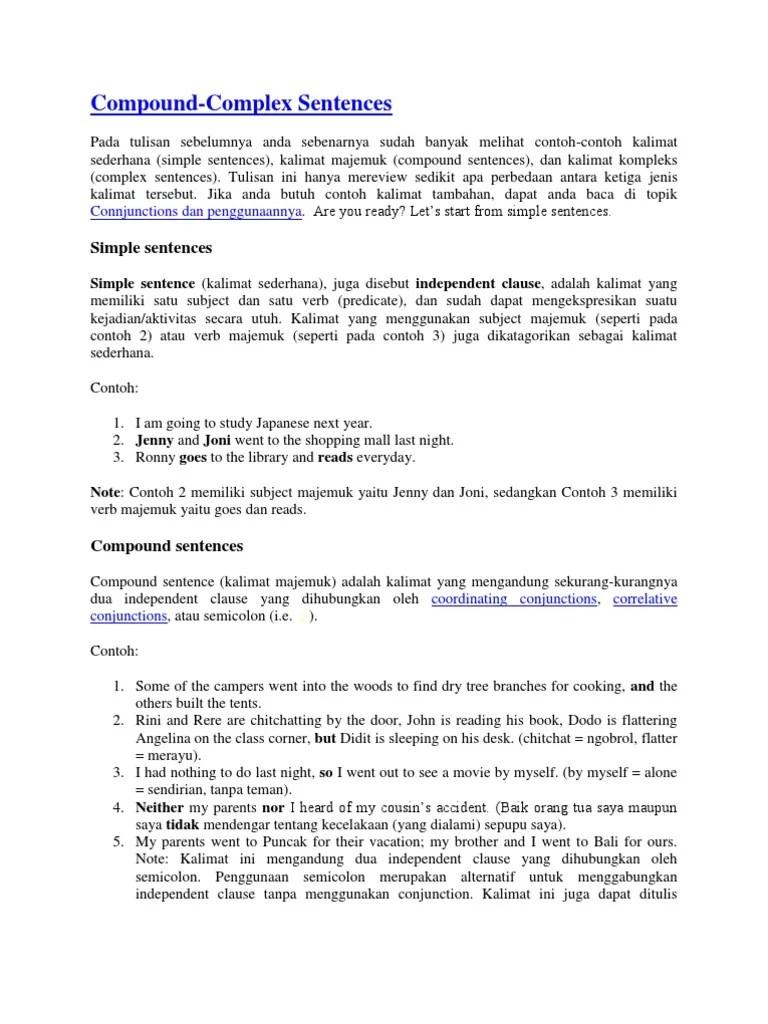 Contoh Kalimat Complex Sentence Adjective Clause - Barisan