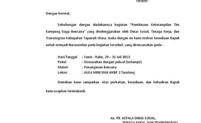 Contoh Surat Balasan Permohonan Menjadi Narasumber Cara Cute766